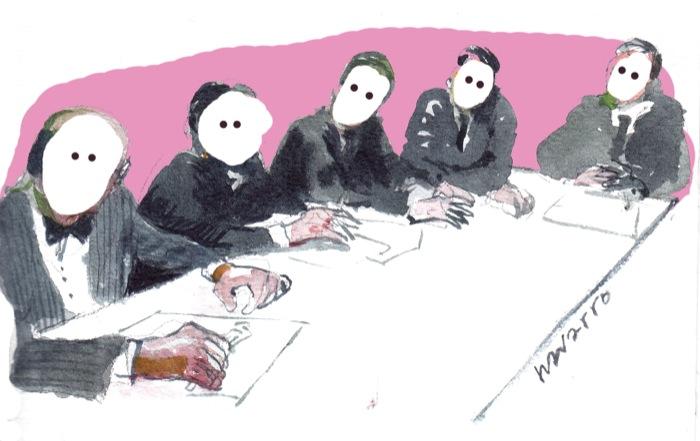 Gabinete político preparando una sesión espiritista para contactar con los líderes del más allá